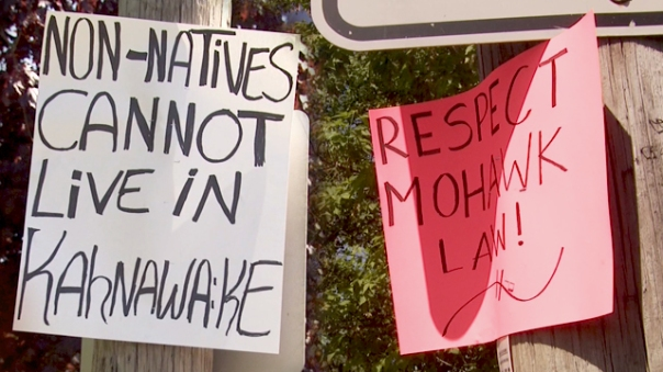 Mohawk Kahnawake evicitions