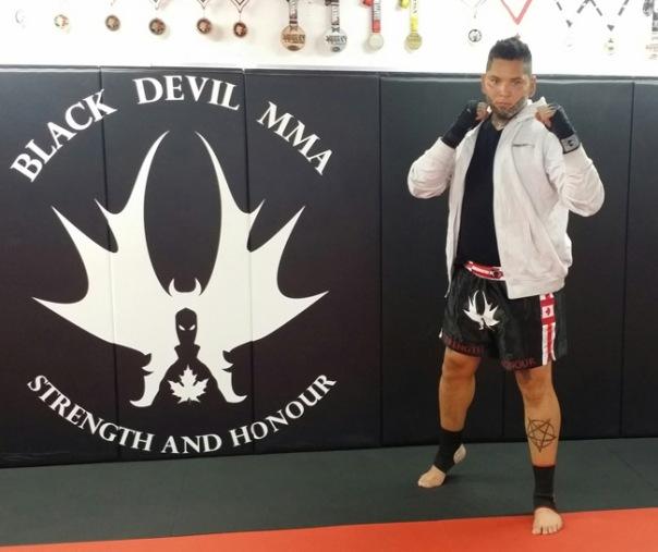 John Fox Jr at the Black Devil MMA club in Toronto, Ontario.