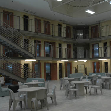 Common area at the  Regina Provincial Correctional Centre where inmates can visit and socialize.   Roy Antal/Regina Leader-Post.
