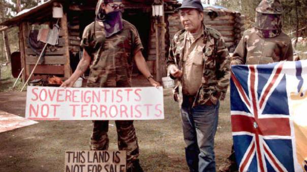 "Ts'Peten siege, 1995; near the town of 100 Mile House, BC, over 450 heavily armed RCMP equipped with armoured personnel carriers from the Canadian military laid siege to a Secwepemc sundance camp.  During the year long trial in 1997, it was revealed that the RCMP had engaged in a self-proclaimed ""smear and disinformation"" campaign, had opened fire on unarmed individuals and detonated an explosive device under a truck used by defenders in an agreed upon no-shooting zone."