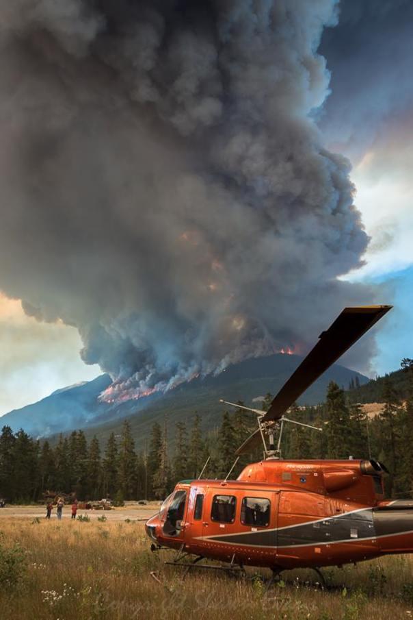Forest fire BC pemberton 1