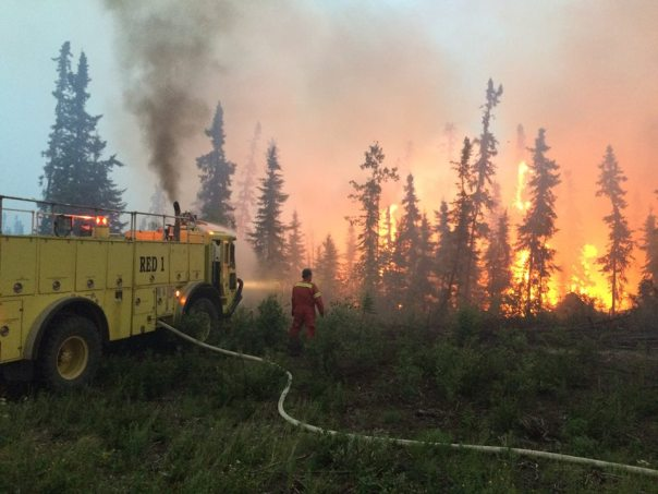 Fire near the La Ronge area, July 4. — in La Ronge, Saskatchewan.
