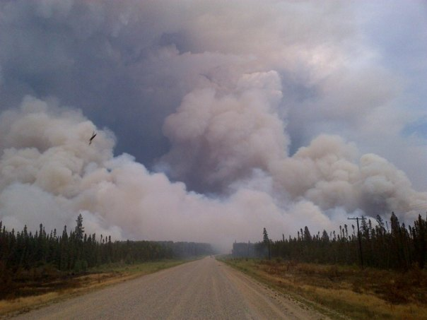 Fire near the Montreal Lake area. — in Montreal Lake, Saskatchewan.