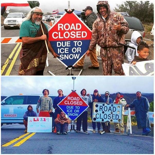 Hawaii road closed