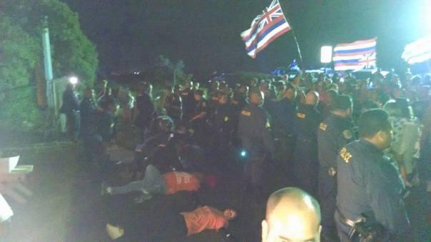 Hawaii TMT protest 2