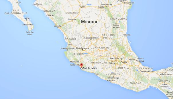 Mexico Ostula map