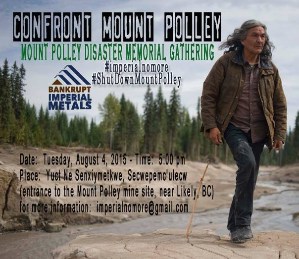 Mount Polley 2015 memorial poster