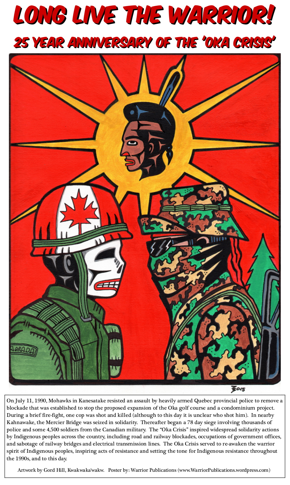 oka crisis Oka, que - it was a crisis that grabbed international headlines, with armed mohawks and canadian soldiers involved in a lengthy standoff that often appeared on the verge of exploding into full-blown.