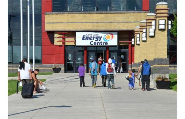The Energy Centre in Cold Lake, Alberta, where evacuees from northern Saskatchewan forest fires are being housed.