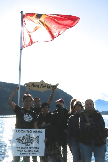 Ahousaht fish farm protest