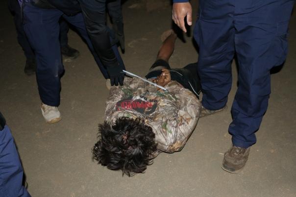 One of several arrests on Mauna Kea, Sept 9, 2015.
