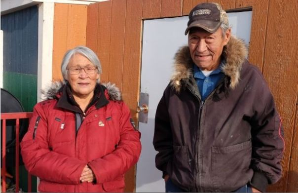 Kangok and his wife Salome represent one of 102 households waiting on a social housing unit in Igloolik. More than 3,000 households in Nunavut are estimated to be homeless and waiting for social housing, according to the Nunavut Housing Corporation. (John Van Dusen/CBC)