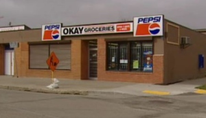 The owner of Okay Groceries was originally charged with manslaughter in connection with Beardy's death. The charges were dropped in 2011. (CBC News)