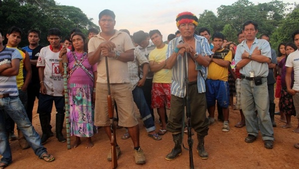 The Achuar indigenous people are fed up with the pollution left behind by foreign oil companies. Photo: Reuters