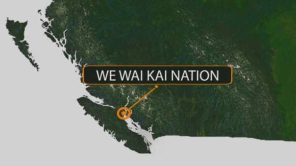 The We Wai Kai First Nation is located on Cape Mudge, near Campbell River on Vancouver Island, BC.