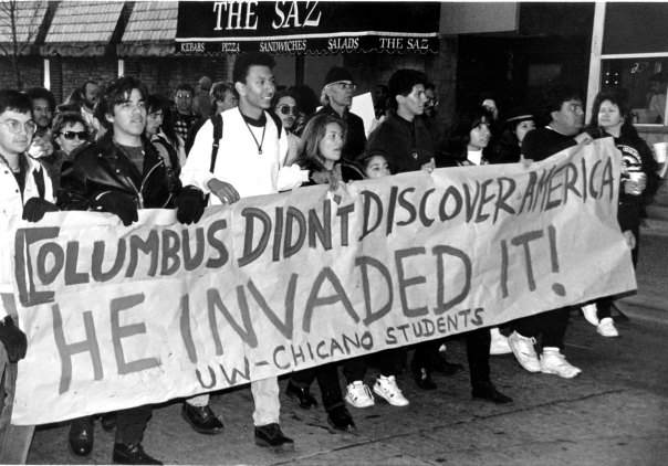 Columbus Day is a federal holiday in the US and the target of protests since at leas the 1950s.