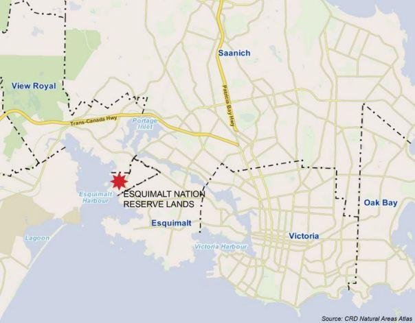 Esquimalt reserve map 1