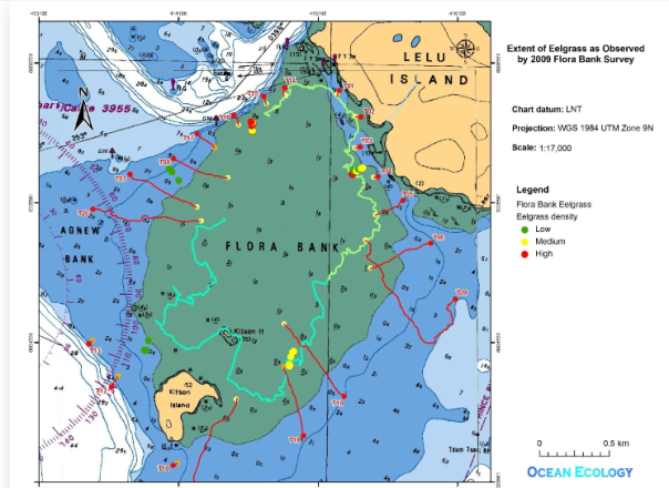 Lelu Island flora banks map