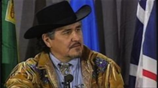 In 1999, prominent Métis leader Harry Daniels started the landmark Métis and non-status Indian rights case that is before the Supreme Court Thursday. Daniels died in 2004. (Métis Council of Prince Edward Island)