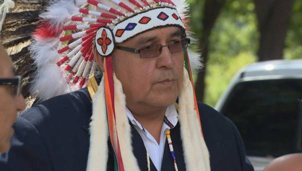 Onion Lake First Nation chief Wallace Fox. Photo: Global News.