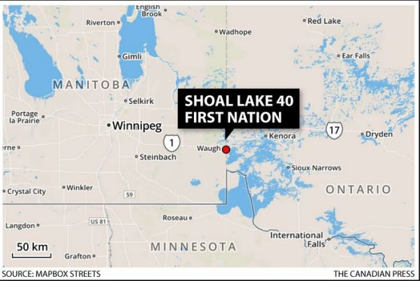 Shoal Lake 40 First Nation map