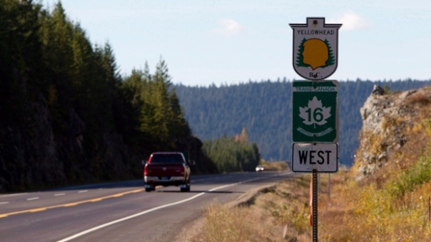 At least 18 women and girls, many of them aboriginal, have been murdered or disappeared along Highway 16 and the adjacent routes, Highway 5 and Highway 97, since 1969. (Jonathan Hayward/Canadian Press)