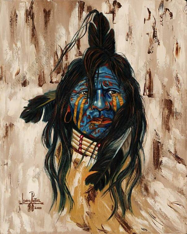 Leonard Peltier painting 1