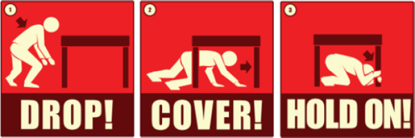 Earthquake stop-drop-cover