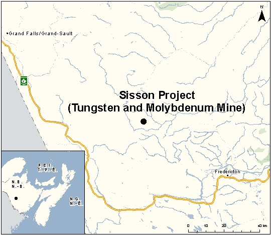Maliseet sisson mine map