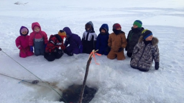 students-ice-fishing-inuvik