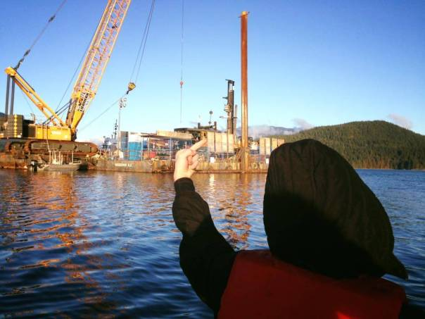 Kinder Morgan barge occupation 1