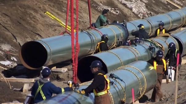 Energy east pipeline workers