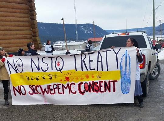Secwepemc treaty protest 3