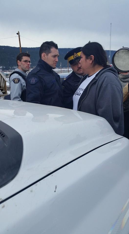 Secwepemc treaty protest 4