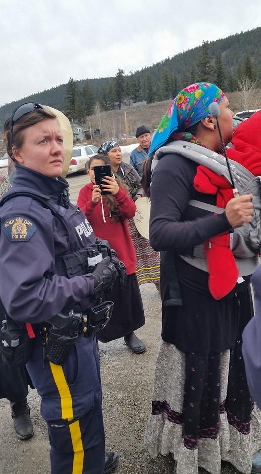 Secwepemc treaty protest 6