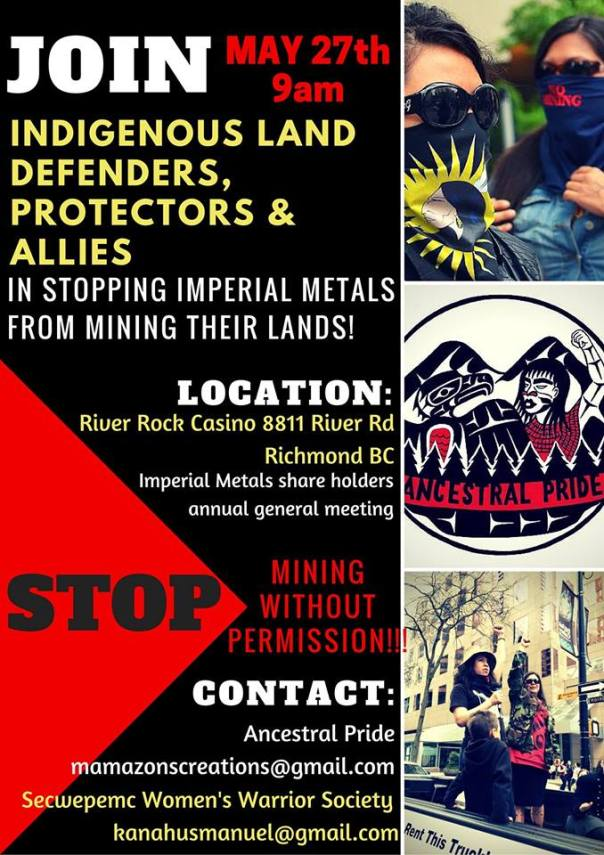 Imperial Metals protest richmond poster