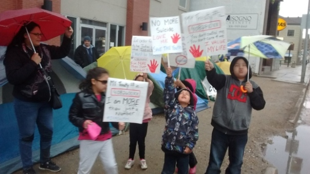 INAC occupation regina kids