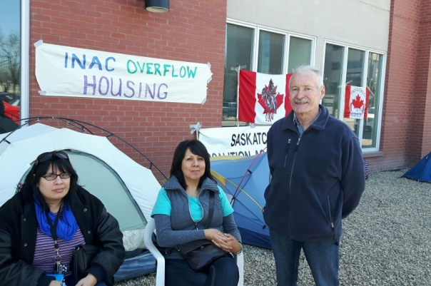 INAC occupation regina tents