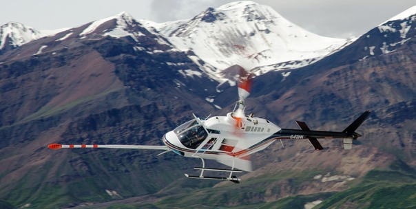 Geological survey helicopter
