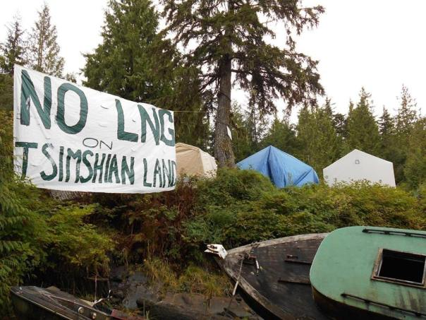 Lelu Island tsimshian banner