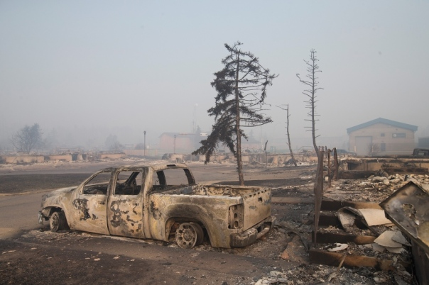 Tar Sands Ft McMurray burned homes
