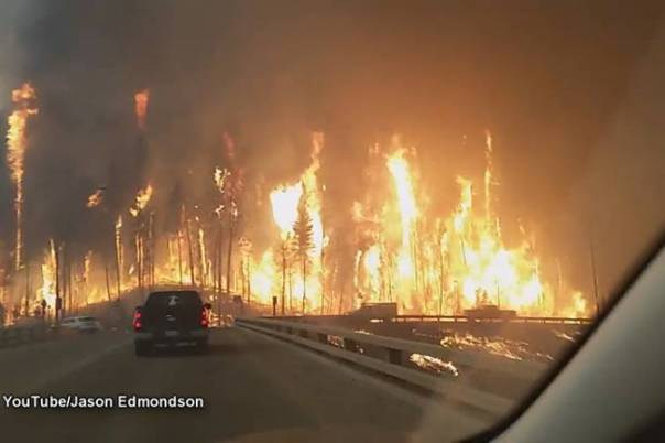 Tar Sands Ft McMurray road fire