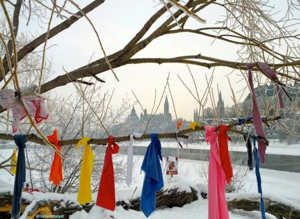 PrayerRibbons_VictoriaIsland_Jan2013