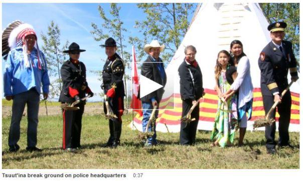 tsuut-ina-police shoovels