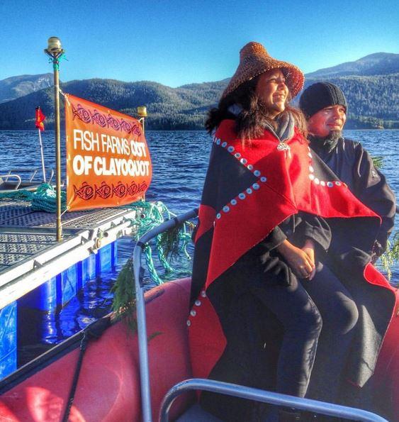 Ancestral Pride fish farm banner