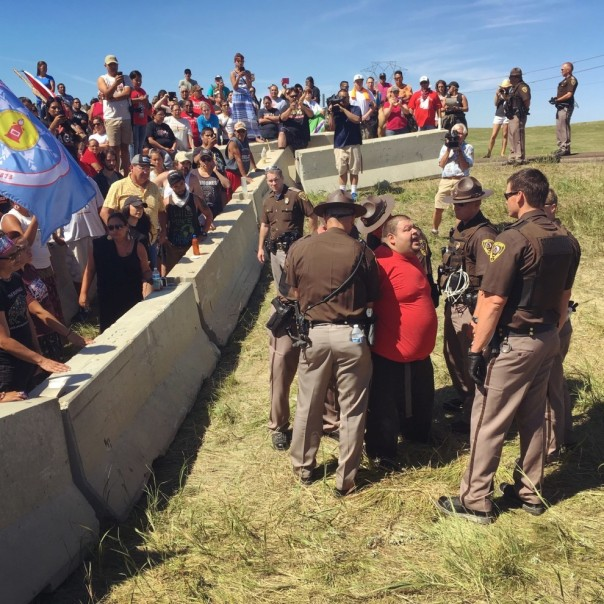 Dakota Access arrest red shirt