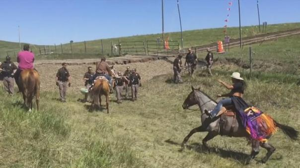 Dakota Access horses charge 1