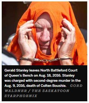 Gerald Stanley handcuffs