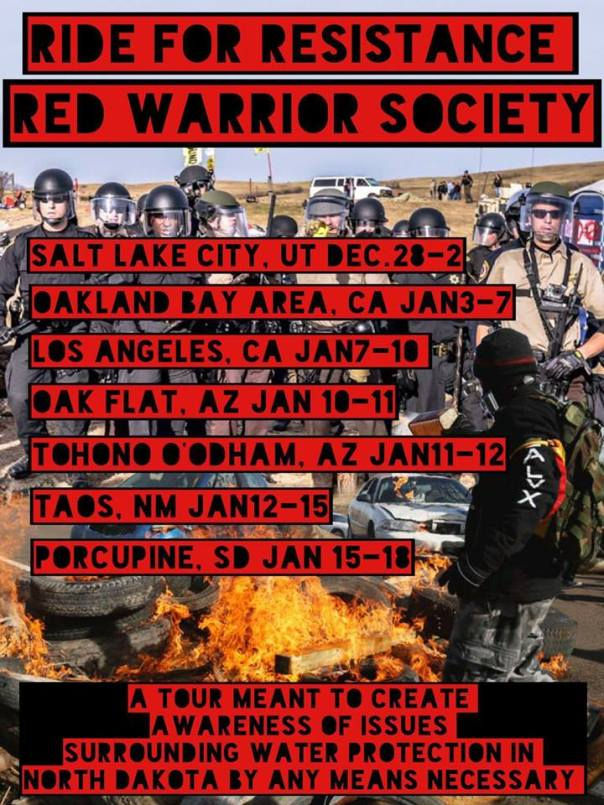 dapl-red-warrior-tour-poster