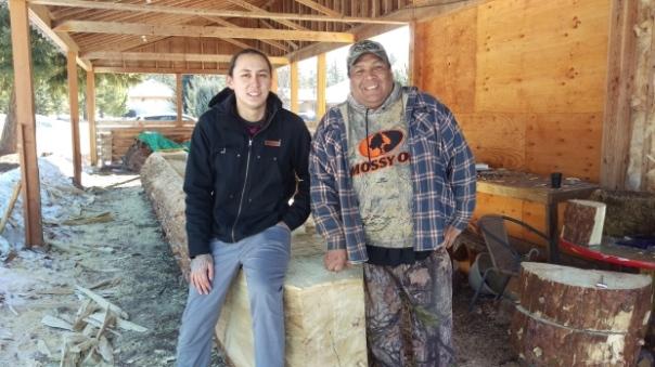 Secwepemc canoe-carvers